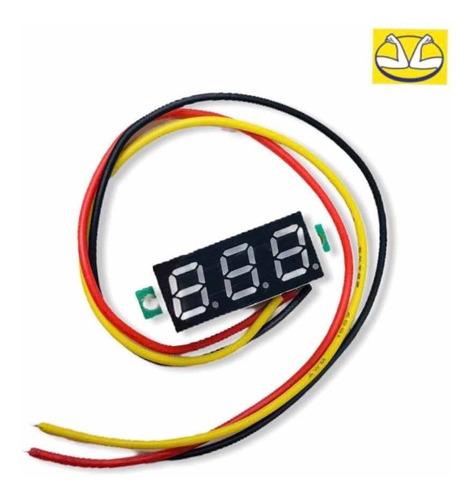 Mini Voltímetro Digital Medidor 0-30v 3 Cables 2.5x1.1cm