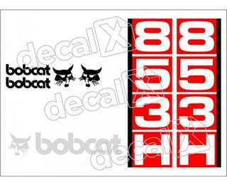 Adesivos Mini Carregadeira Bobcat 853h Kit Completo Mk