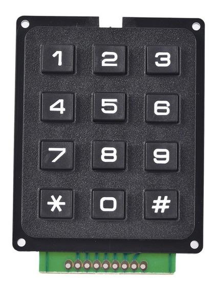 Teclado Matricial 12 3x4 Botões Arduino Pic Microcontrolador