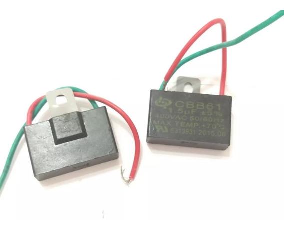 Kit 5 Capacitor Ventilador 1,5uf X 400vac +- 5% Cbb61