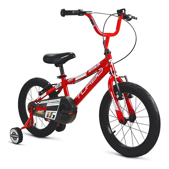 Bicicleta Turbo Para Niño R16 Ruedas Frenos Cómoda Y Veloz