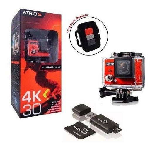 Kit Câmera Atrio Fullsport 4k + Cartão 32gb Classe 10 Dc185