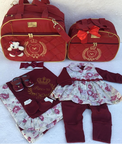 Kit Bolsas Mais Saída Maternidade Luxo Completa Barata Bebes