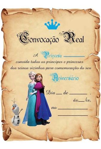 Imagem 1 de 1 de 40 Festa Frozen  Convite Aniversário Pergaminho