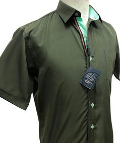 Camisas Unicolor Louis Feraud Manga Corta 102431