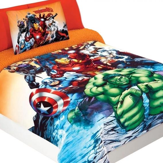Cobertor Matrimonial Borrega Disney Marvel Y Futbol