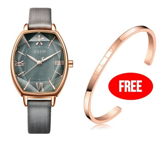 Reloj Julius Ja-920b Mujer Dama Mas Pulsera Acero. Promocion