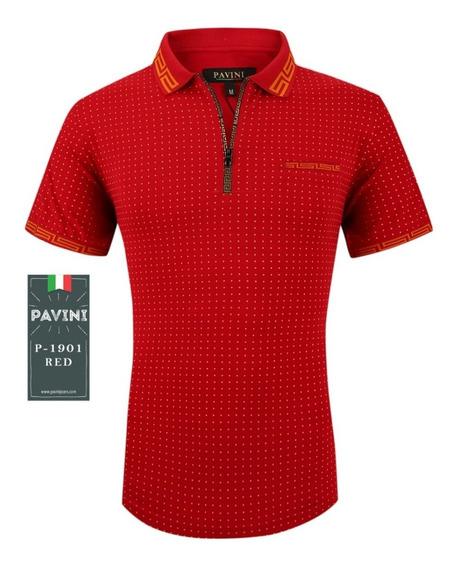 Playera Caballero Polo Marca Pavini Original P1901 Roja