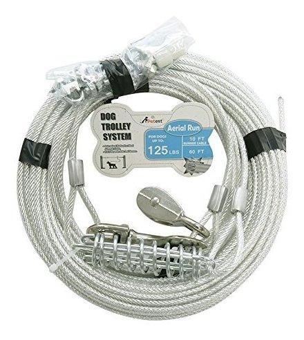 El Cable De Carrete De 60 Pies Mas Pequeño Para Perros Pesa