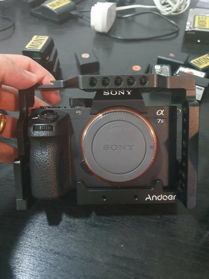Câmera Sony A7s Ii / A7s 2 + Cage + Adaptador De Lente +4bat