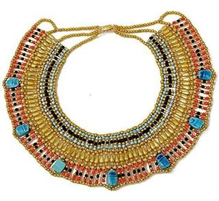 Cleopatra Collar Egipcio Collar Diseño Disfraces Accesorios