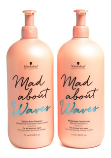 Schwarzkopf Mad About Waves P/ Pelo Ondas Shampoo + Enjuague