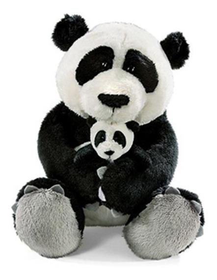 Pelúcia Família Urso Panda Mãe 25cm Com Filhote 8cm Oferta