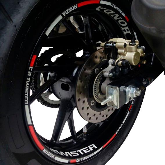 Friso Adesivo Refletivo Para Roda Cb-250 Twister Não Desbota