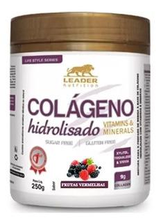 Colágeno Hidrolisado 250g Leader Nutrition - Vários Sabores