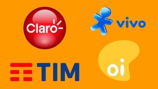 Recarga Online Credito Tim Claro Vivo Oi R$50