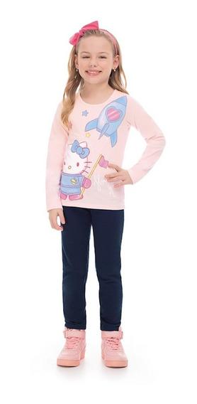 Blusa Infantil Cotton Hello Kitty