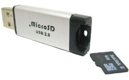 Lector De Memoria Micro Sd Metalico Tipo Pendrive