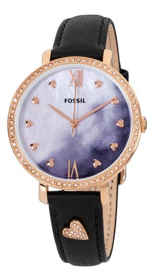 Relógio Unissex Fossil Es4533 Pulseira De Couro