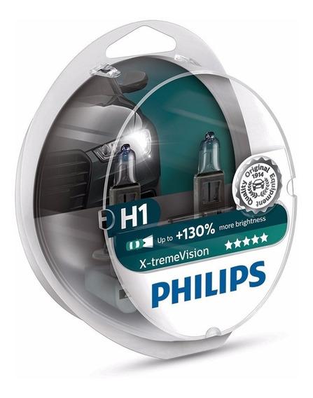 Kit Lâmpada Philips X-treme Vision H1 - 130%+luz