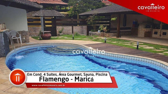 Casa 4 Súítes, Piscina E Churrasqueira, Flamengo, Maricá - Ca0467