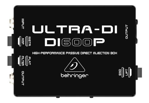 Imagen 1 de 4 de Behringer Ultra-di Di600p Caja Di Pasiva De Alto Rendimient