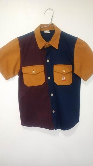 Camisa Manga Corta De Niño, Talla 8, Perfecto Estado