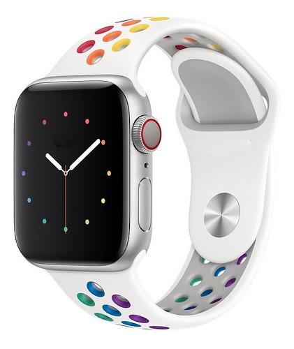 Pulseiras Silicone Furo Para Apple Watch 38/40/42/44 S/m M/l