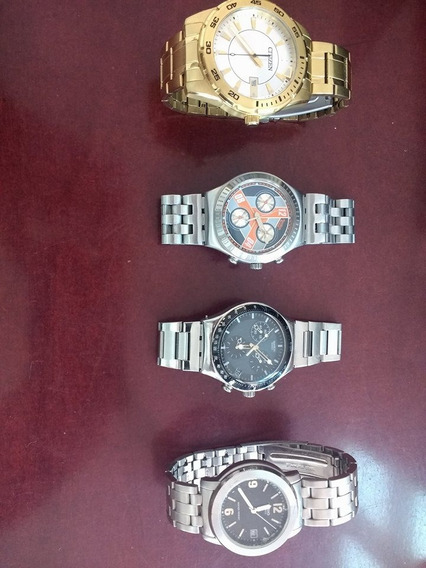 Lote De Relojes Citizen, Swatch, Casio; Originales