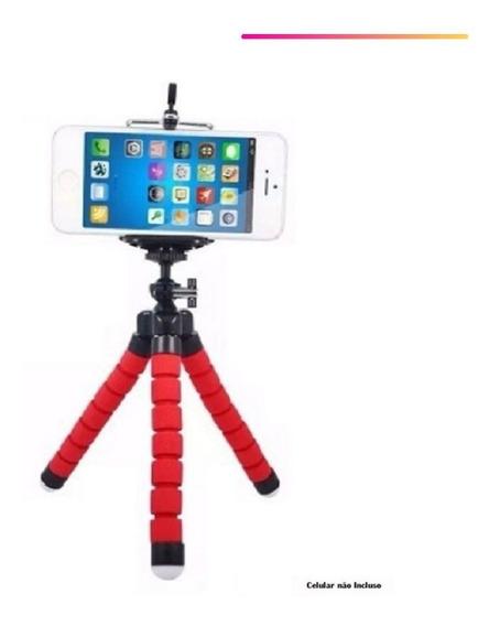 Mini Tripé Flexível Camera iPhone Go Pro Youtuber - Promoção