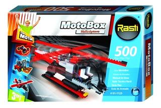 Rasti Motobox Helicoptero 500 Piezas Mejor Precio!!