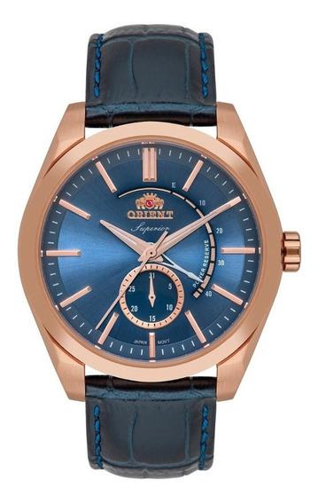 Relógio Masculino Rose Orient Superior Automático Couro