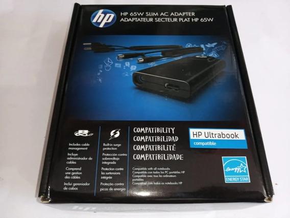 Fonte Hp 65w Slim With Usb Ac Adapter Porta Usb Kit 3 Un