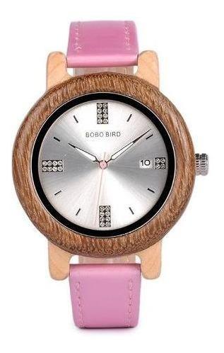 Relógio Pulso Bobo Bird Feminino Ecológico Madeira Bambu