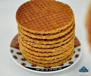 6 Pacotes De Biscoito Holandês - Moinho Stroopwafel - 1,68kg
