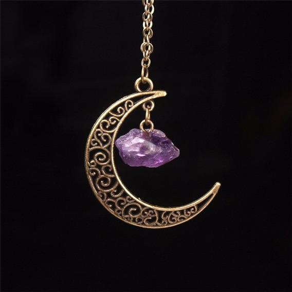 Colar Magico Lua - Ametista Colar Mistico