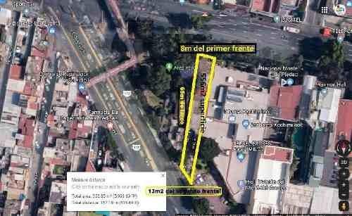 Terreno En Renta En Xochimilco Centro, Terreno Comercial En Renta Con Dos Frentes Y 556m2 Superficie
