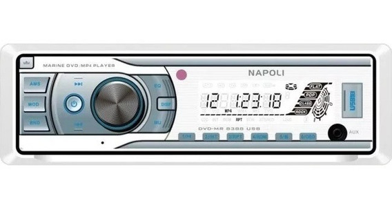 Toca Radio Cd/dvd Napoli Maritimo Marinizado Mp3/fm/sd/usb