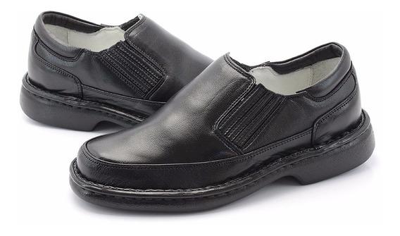 Sapato Anti Stress Masculino Ortopédico Social Diabéticos