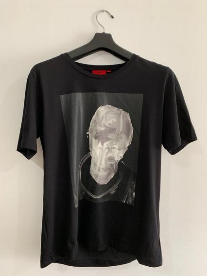 Camiseta Hugo Boss Logo Escultura 3d 100% Original De $800