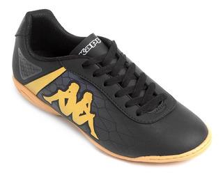 Chuteira Futsal Kappa Original N°41 - Preto E Dourado