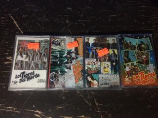 Lote 4 Cassettes Tapes Cintas Los Tigres Del Norte Nuevas