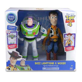 Buzz Lightyear Y Woody Muñecos 60 Frases Toy Story 4