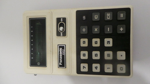 Tck Antiga Calculadora Panasonic Je 880u Não Funciona C/ Cx