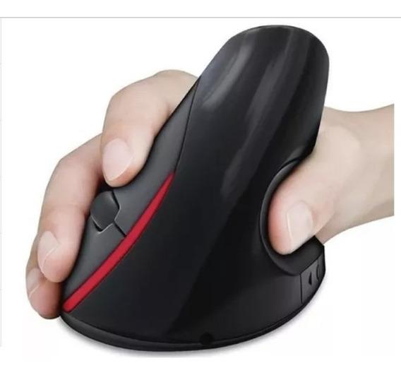 Mouse Óptico Ergonômico Vertical Previne Tendinites C/fio