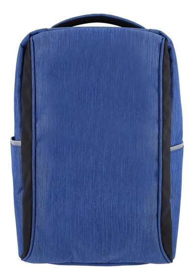Mochila Antirrobo Azul Smart Carga Usb Note Celular Tablet
