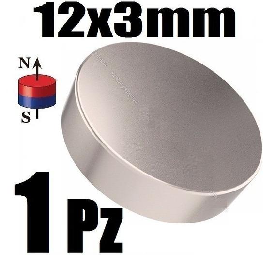 1 Iman Neodimio Redondo Magneto 12mm X 3mm Alcalinizar Xto