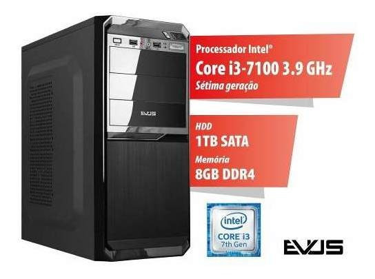 Microcomputador Desktop Evus Modelo Trend 1008 Sétima Geraç