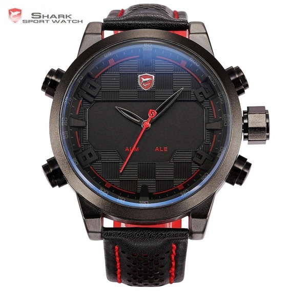 Relógio Masculino Original Shark Sh 203 Vermelho Digital