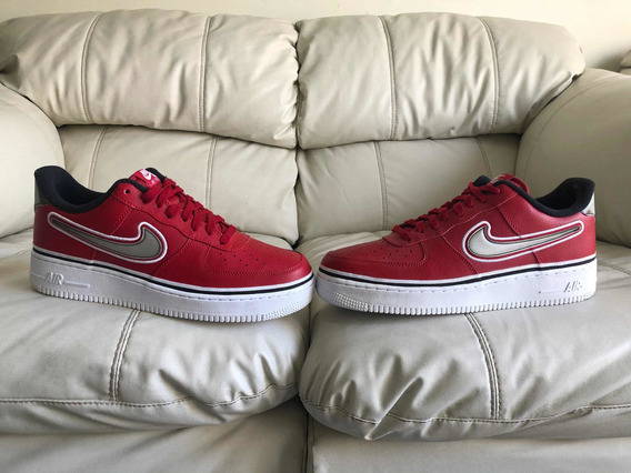 Tenis Nike Air Force One Low Sport Nba Varsity Red Del 29mx